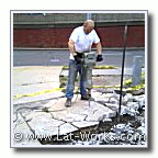 concrete removal by jackhammer