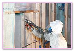 Cell Foam Insulation Pour Place Spray System. Thermal Interior Insulation Foam