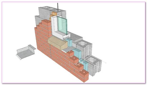 What Are  In Work Masonry Flashings. Shelf Angle Moisture Metal Masonry Wall Flashing