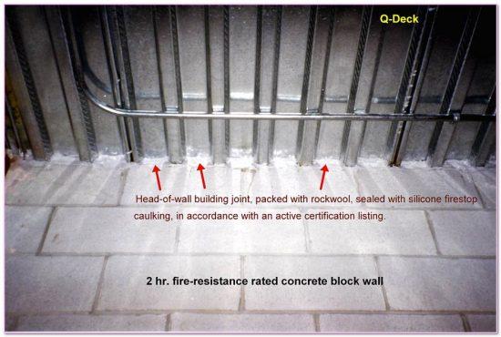 Block Wall  Rating Fire Resistance Ratings Walls