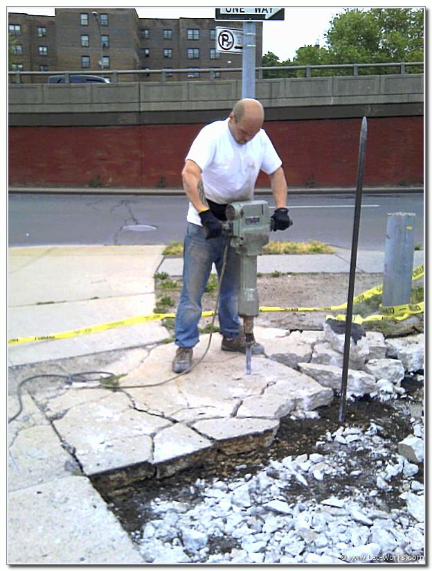 Concrete Crashing with Jackhammer.
