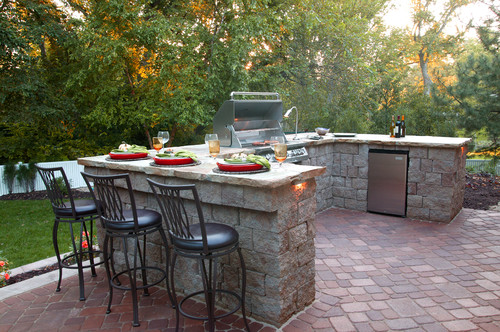 Integrated Outdoor Patio Branch/BBQ.